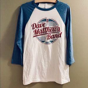Canvas Dave Matthews Band baseball T.  NWT